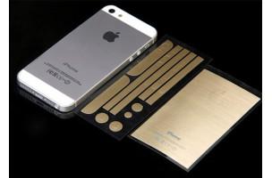 Bộ dán mạ vàng cho iPhone 4/4S/5/5S